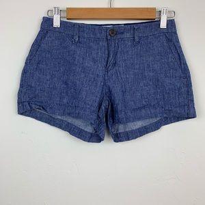 Old Navy Chambray Linen Blend Mini Shorts